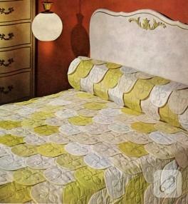 Vintage kapitone yatak örtüsü