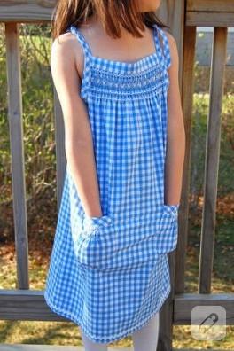 kolay maviş elbise