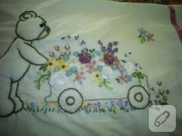 kurdela nakışı bebek battaniyesi