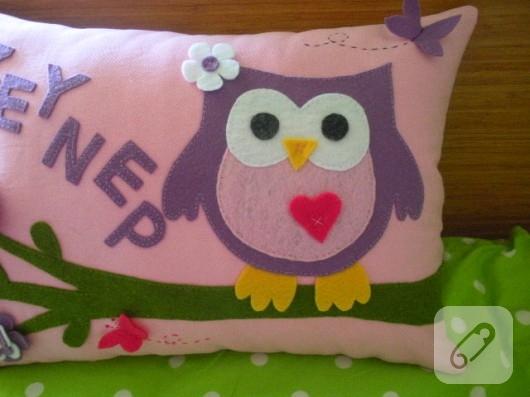 baykuş yastık