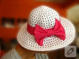 Yazlık Şapka Süsleme