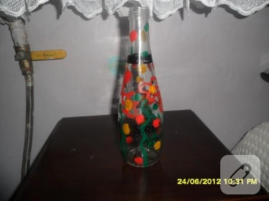 Guaj boyayla şişe süsleme