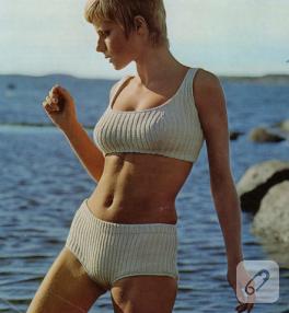 Örgü bikinide nostaljik havalar