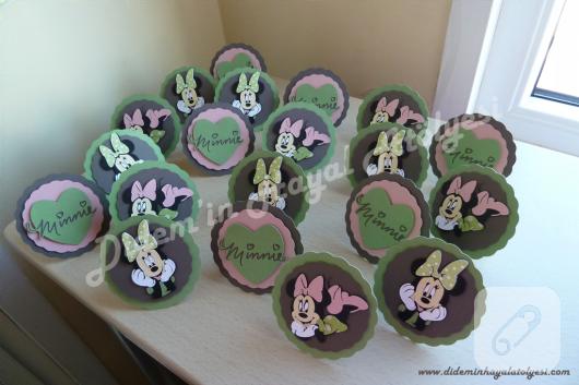 Minnie Mouse'lu parti süsleri