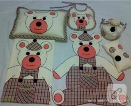 Ayıcık desenli bebek takımı