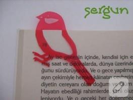 kuş kitap ayracı