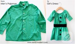 Eski gömlekten elbise
