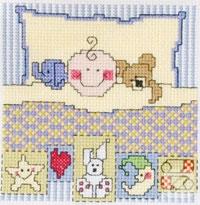 Bebek odası için kanaviçe desenleri