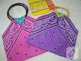 Eşarptan çanta yapımı