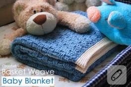 Afgan işi bebek battaniyesi