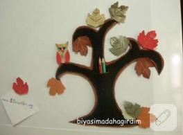 Sonbahar Yarışması- yaprak magnetler ve ağaç kalem cebi-ByDG iftiharla sunar ;)