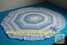 maviş bebek battaniyesi