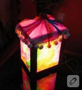 el yapımı köşe lambası