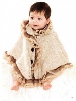 Bebeklerinize örgü pelerin modeli