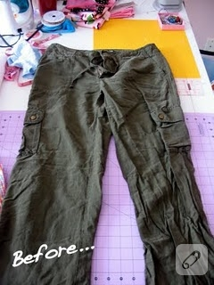 geridönüşüm : erkek çocuğu pantolonu