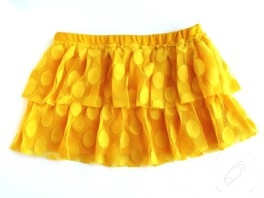 sarı mini etek dikimi..