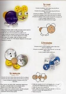 Düğmelerden rengarenk hayvanlar yapın:)