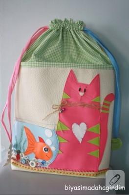 Pembe kedili çanta-2