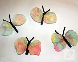 Kahve Filtresinden Renkli Kelebekler