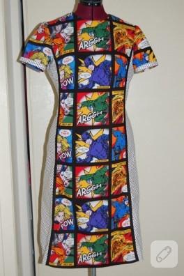 Çizgi roman elbisesi