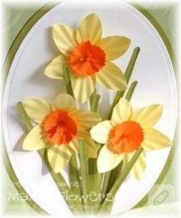 Bahar çiçekleri ile süslü pano
