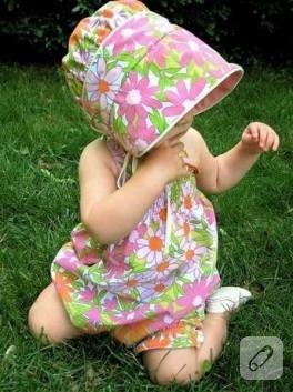 Askılı Bebek Elbisesi Dikimi