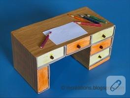 Kibrit kutularından çalışma masası