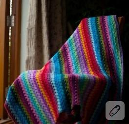 …gökkuşağı battaniye…