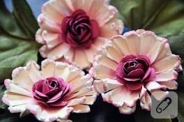 Yine bir kağıt çiçek yapım tekniği..