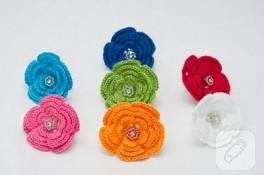örgü minik çiçekler
