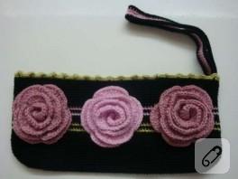 çiçekli mini çanta
