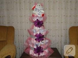 Ayşenaz'ın bebek bezi pastası