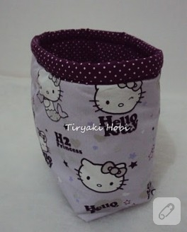 Hello Kitty'li Kumaş Kutum