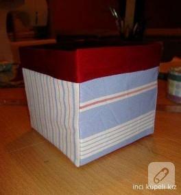 küçük kumaş+kağıt kutum