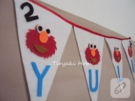 Keçe bayrak – Elmo
