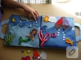 küçük çocuklara kumaş kitap