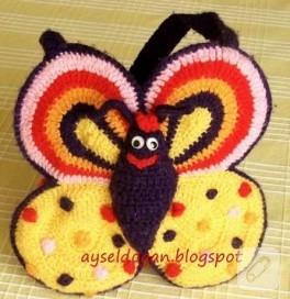 kelebek çanta ördüm:))