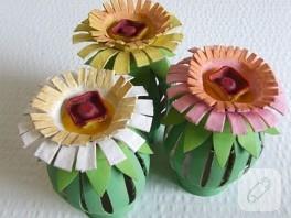 Kağıt Rulodan Çiçekler