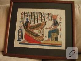 Eski Mısır Desenleriyle Tablo