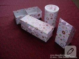 Düzenli Evim'den Geri Dönüşüm-Kutu Yapımı