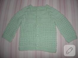 ajurlu yeşil bebek takımı