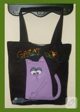 Fare yakalayan kedi çantası