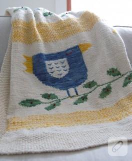 Mavi Kuş – Bebek Battaniyesi