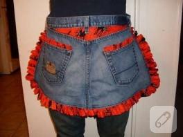 kot pantalonundan önlük yapımı