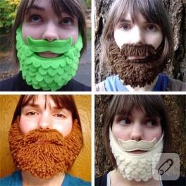 miniklere şirin sakal bıyık yapalım