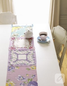 Mendillerden Yapılmış Masa Örtüsü