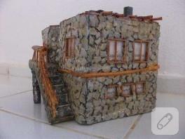 maket ev yapayım.taş ev olsun.ama aslında taş olmasın :)