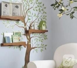 Duvarda ağaçlar…
