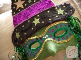 maskeyi taktım sürdüm boyalarımı