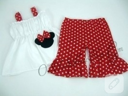 Mickey mouse bluz ve pantolon